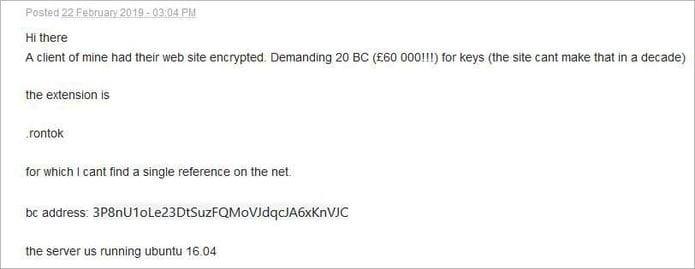 Ransomware B0r0nt0K infecta servidores Linux e pede resgate
