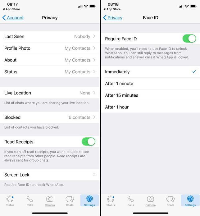 Usuários do iPhone já podem bloquear o WhatsApp com Touch ID ou Face ID