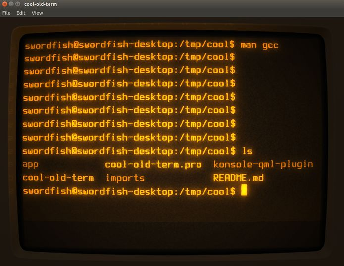 Como instalar o emulador de terminal Cool-Retro-Term no Linux via Appimage