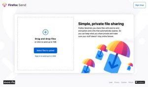 Firefox Send um serviço de compartilhamento de arquivos livre e criptografado