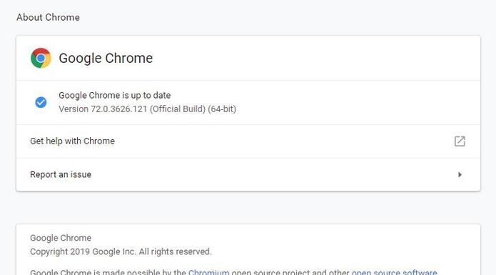 Google corrigiu uma falha Zero-Day na atualização do Chrome 72