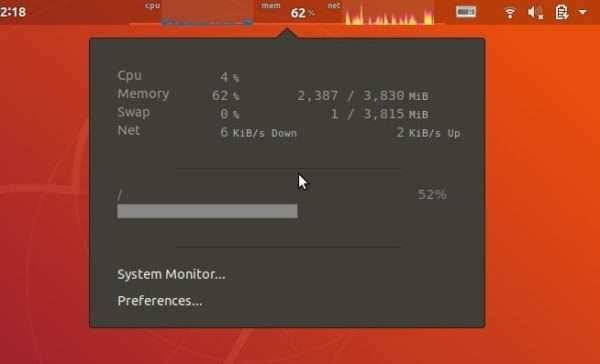 Como exibir informações do sistema no Painel do Ubuntu 18.04 ou superior