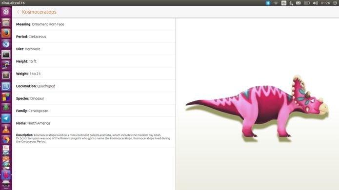 Como instalar o informativo Dino no Linux via Snap