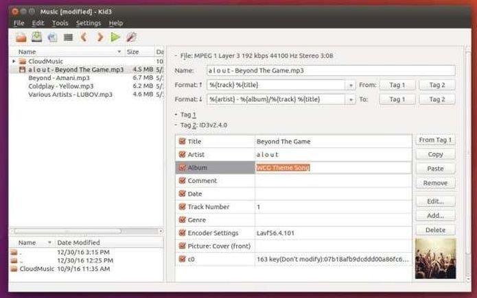 Kid3 3.7.1 lançado - Confira as novidades desse editor de tags e atualize
