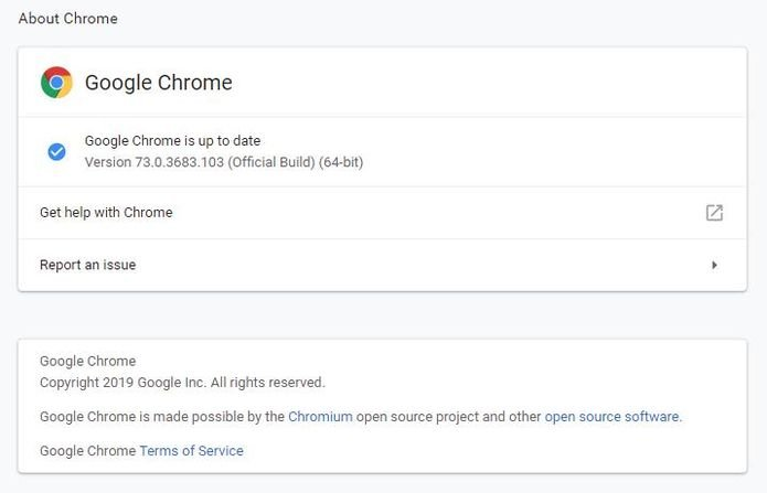 Chrome 73.0.3683.103 lançado para Linux, Windows e Mac