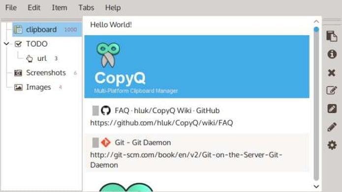 CopyQ Manager 3.9.1 lançado - Confira as novidades e instale