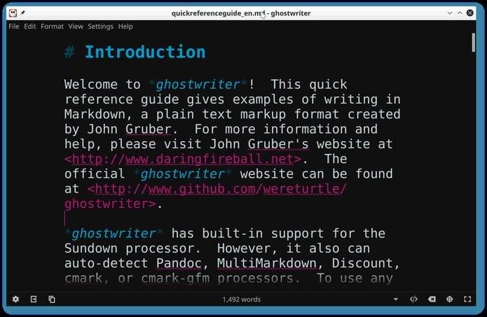 Como instalar o editor Markdown Ghostwriter no Linux via Flatpak