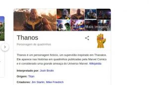 Google comemora estreia de Vigadores: Ultimato com Easter Egg do Thanos