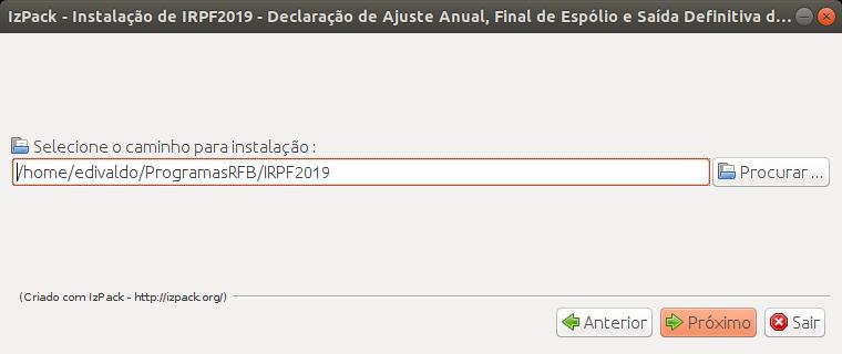 irpf 2019 no linux via arquivo jar 2 - Como instalar o programa IRPF 2019 no Linux via arquivo JAR [Atualizado]