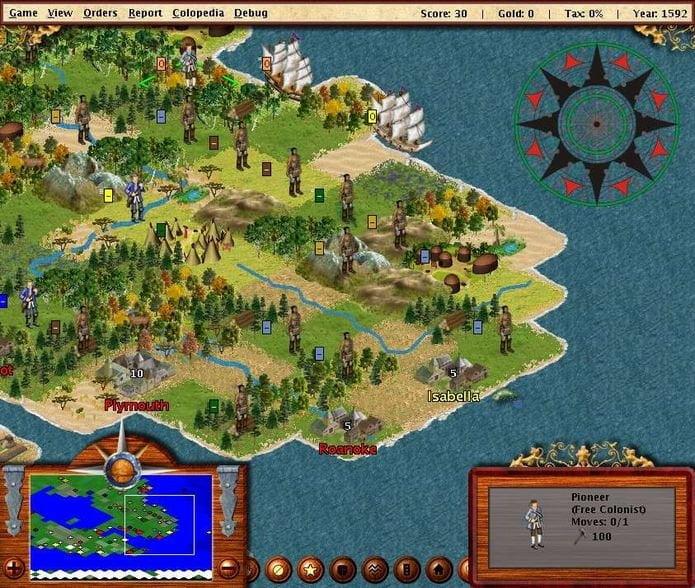 jogo colonization freecol no linux via flatpak 1 - Como instalar o emulador de jogos de PS2 PCSX2 no Ubuntu