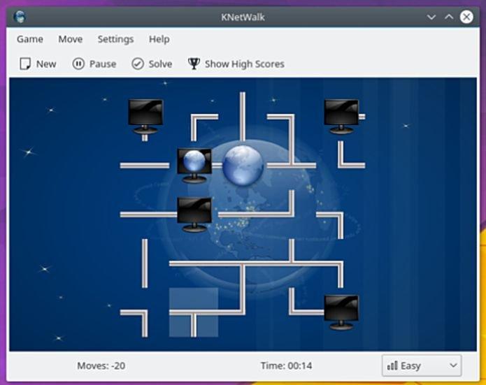 Como instalar o jogo KNetwalk no Linux via Flatpak