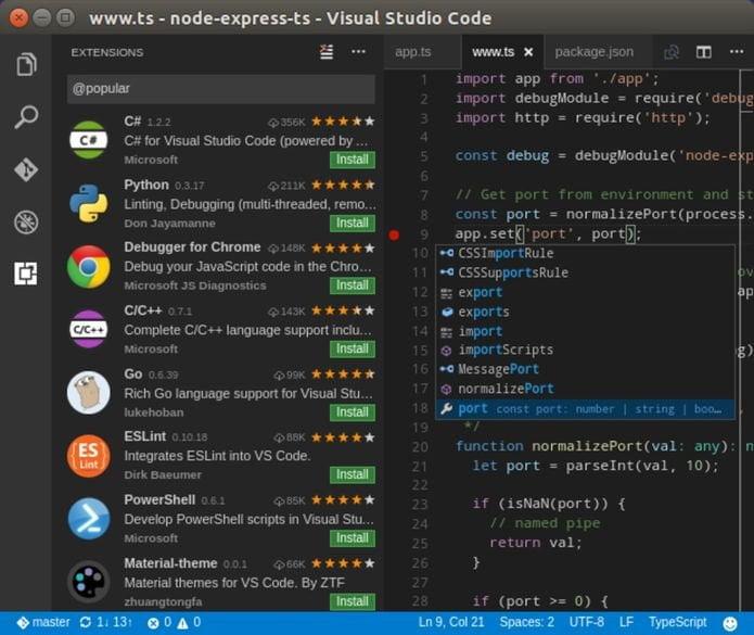 Microsoft lançou oficialmente o Visual Studio Code como um snap