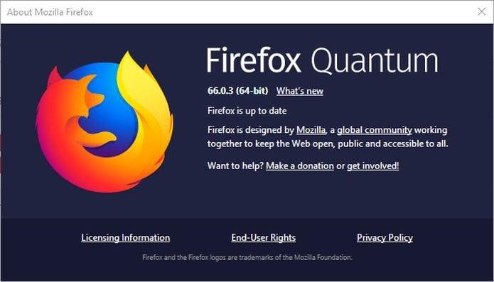 Mozilla Firefox 66.0.3 lançado com correções de bugs e melhorias de desempenho