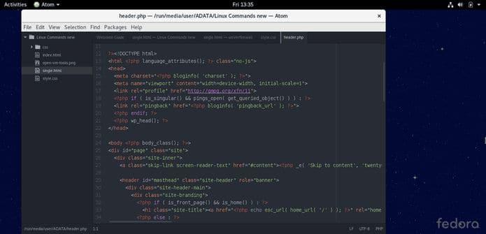 Como instalar o editor Atom no Fedora, OpenSUse, CentOS e derivados