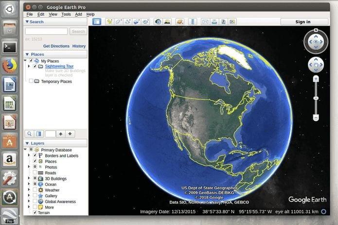 Como instalar o Google Earth Pro no Ubuntu 19.04, Debian e derivados