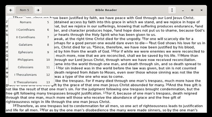 Como instalar o leitor Biblereader no Linux via Flatpak