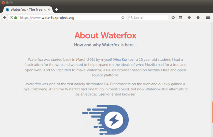 Como instalar o navegador Waterfox no Linux via AppImage