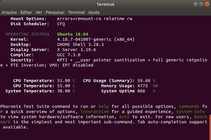 Phoronix Test Suite 8.8 lançado - Confira as novidades e instale