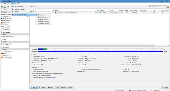 qBittorrent 4.1.6 lançado com várias correções de bugs