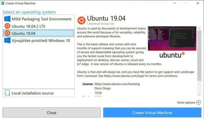 Ubuntu 19.04 já está disponível na Galeria Hyper-V da Microsoft