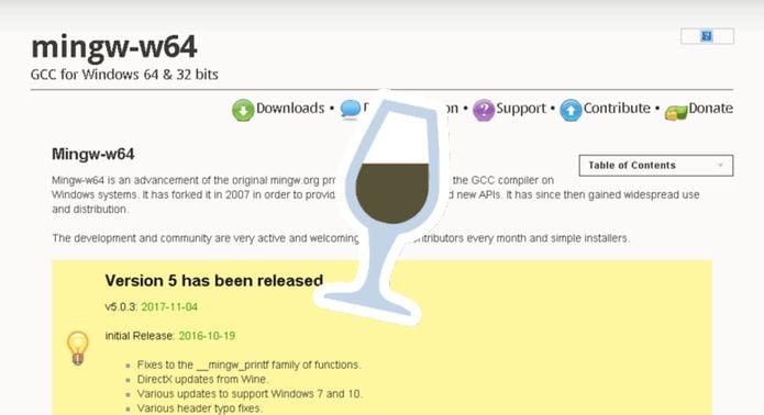 Wine e Mingw-w64 irão estreitar o relacionamento! WineSDK?