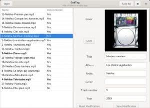 Como instalar o editor de tags de áudio GabTag no Linux via Flatpak