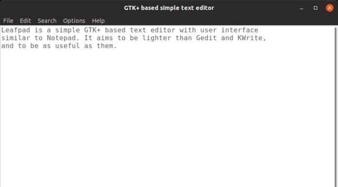 Como instalar o editor de textos Leafpad no Linux via Snap