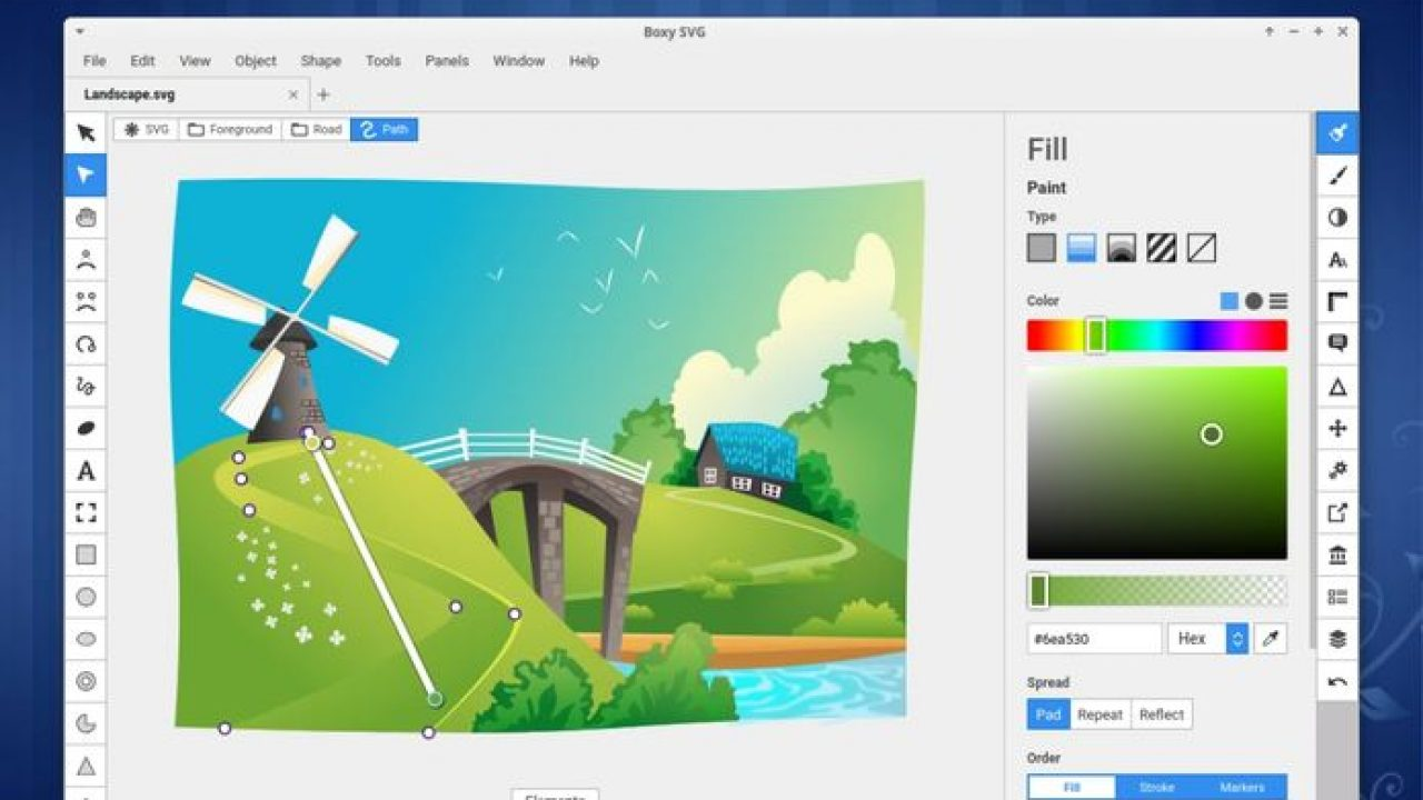 editor SVG Boxy SVG no Linux - Veja como instalar via Snap