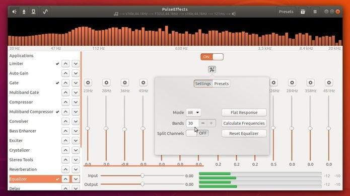 Como instalar o equalizador PulseEffects no Ubuntu e derivados