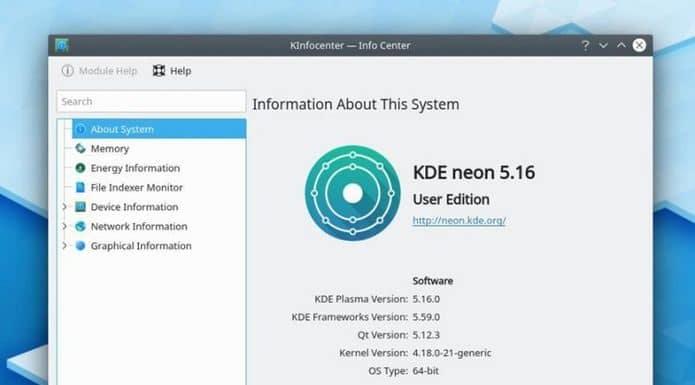 KDE Neon 5.16 já está disponível para download