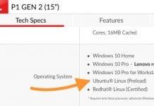 Laptops Lenovo ThinkPad P estão disponíveis com o Ubuntu