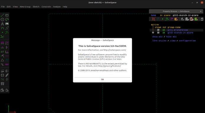 Como instalar o modelador paramétrico SolveSpace no Linux via Snap