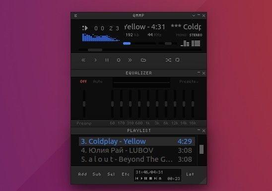 Qmmp 1.3.3 lançado com suporte Floating PulseAudio, ALSA, OSS4