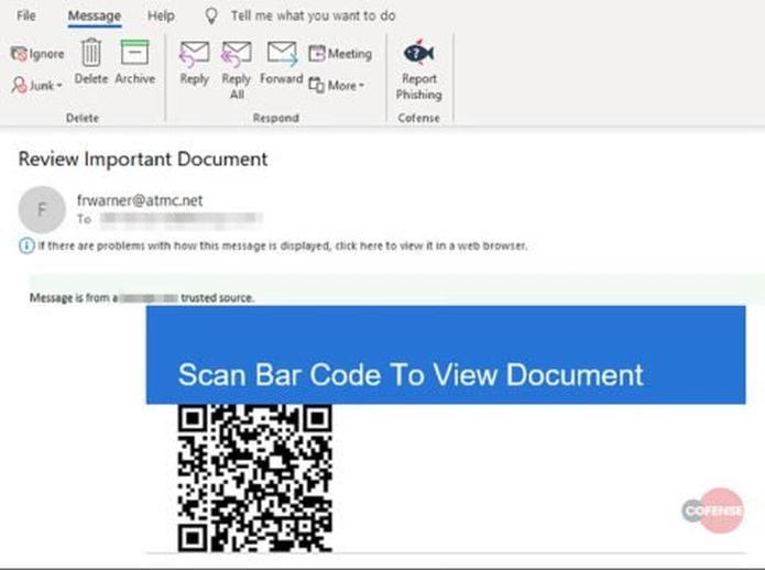 QRishing permitiu ignorar totalmente Controles de segurança de phishing