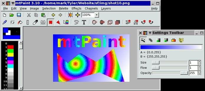 Como instalar o app de pintura mtpaint-casept no Linux via Snap