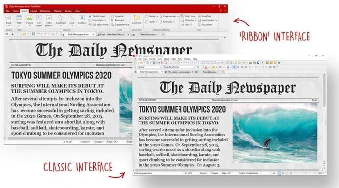 Atualização de aniversário do FreeOffice adiciona suporte ao MS Office 2019