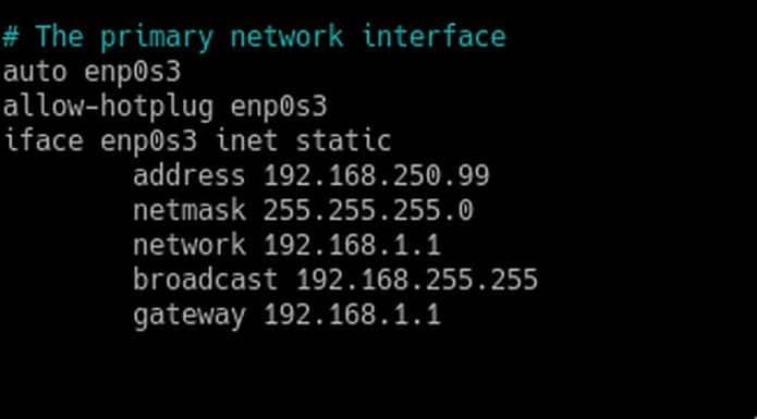 Como definir um endereço IP estático no Debian 10 Buster