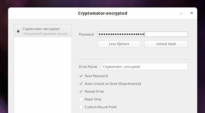 Cryptomator 1.4.12 lançado com salvamento de senhas no Linux