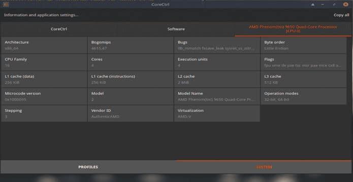 Como instalar o gerenciador de perfis de hardware CoreCtrl no Linux