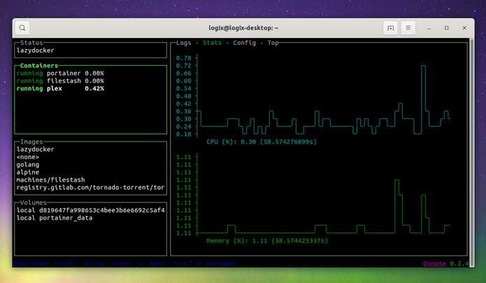 interface de usuario para docker lazydocker no linux - Como instalar o reprodutor VLC no Linux via AppImage
