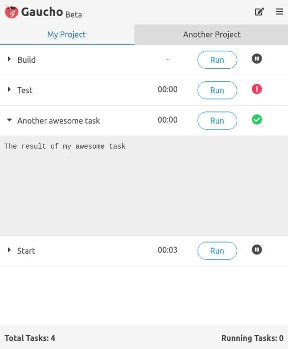 Como instalar o lançador de tarefas Gaucho no Linux via Snap