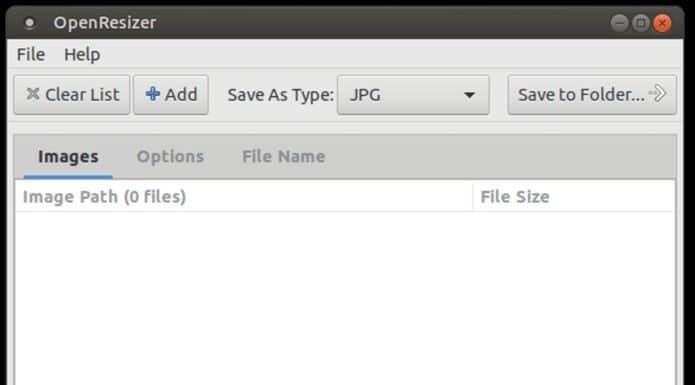 Como instalar o redimensionador OpenResizer no Linux via Snap