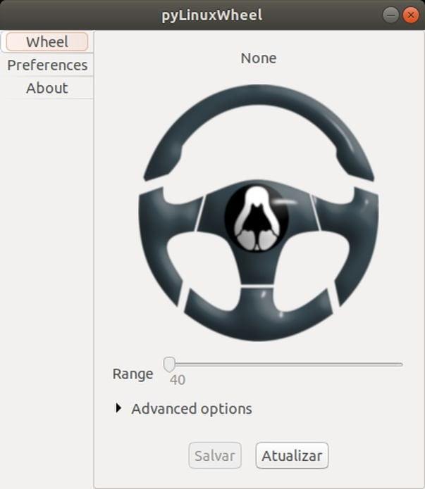 Como instalar o configurador de volantes da Logitech pyLinuxWheel no Linux