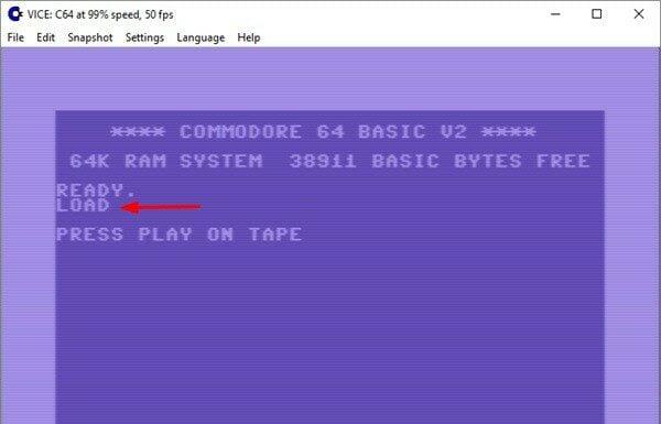 Como instalar o emulador Commodore VICE no Linux via Snap