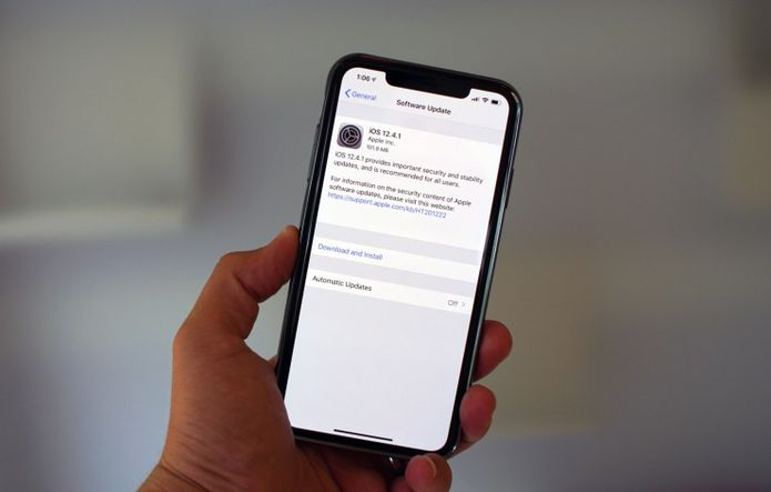 iOS 12.4.1 lançado para corrigir a falha de segurança por trás do jailbreak