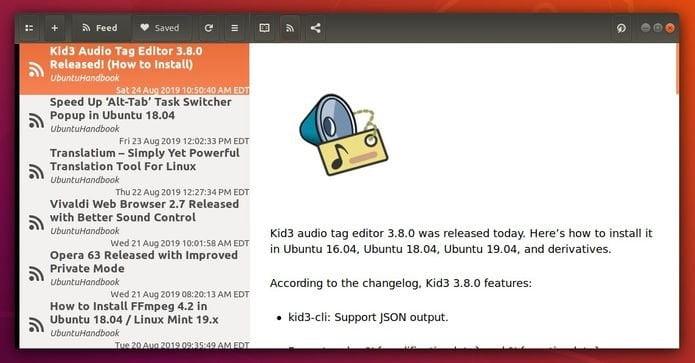 Como instalar o leitor de notícias Gnome Feeds no Linux via Flatpak