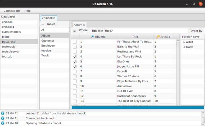 Como instalar o navegador de banco de dados DbTarzan no Linux