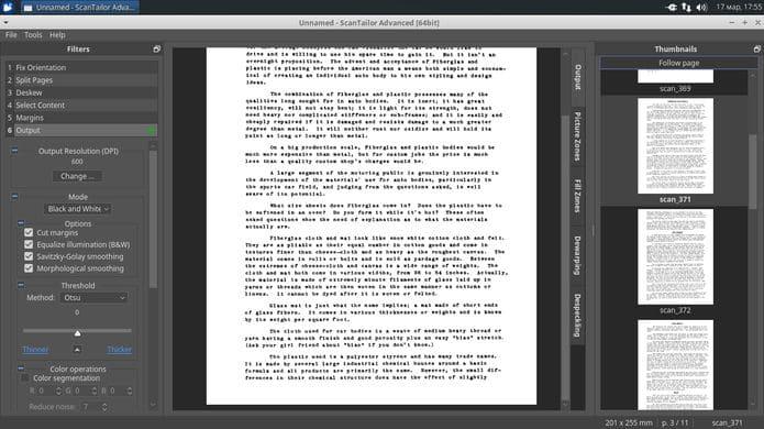 Como instalar o utilitário ScanTailor Advanced no Linux via Snap