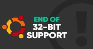 Canonical especificou o suporte de 32 bits para o Ubuntu 20.04 LTS