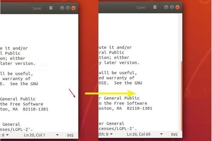 Como tornar a barra de rolagem sempre visível no Ubuntu 18.04 ou superior